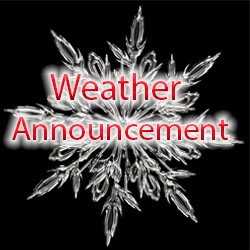 Weather announcements - High School