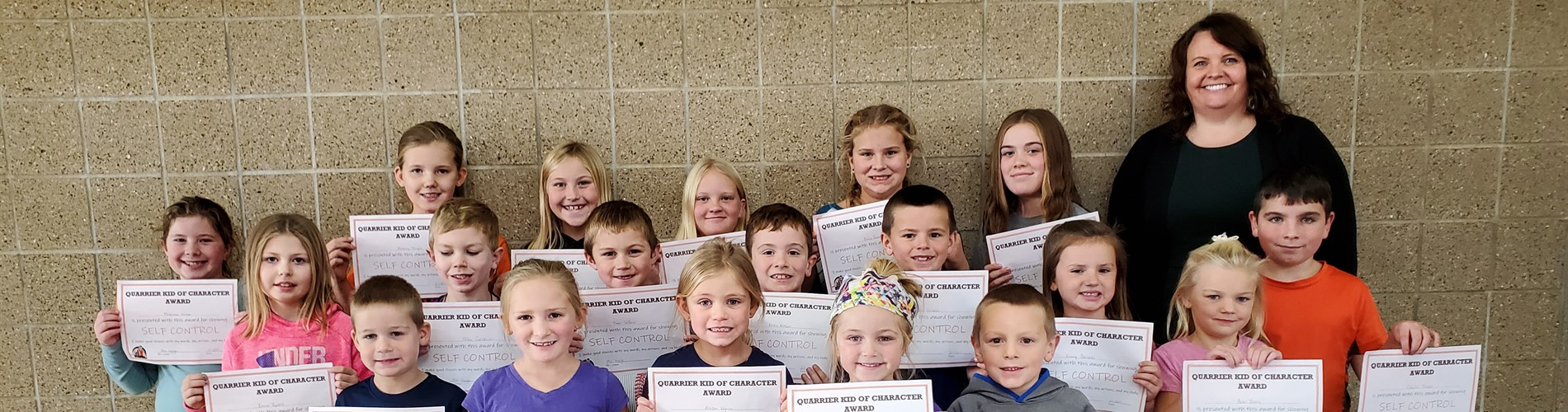 Pictured are the October Quarrier Kids of Character.